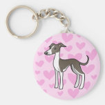 Greyhound / Whippet / Italian Greyhound Love Keychains
