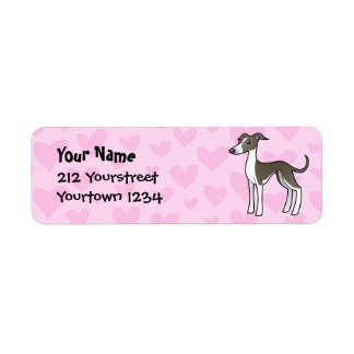 Greyhound / Whippet / Italian Greyhound Love Label