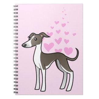 Greyhound / Whippet / Italian Greyhound Love Spiral Notebook