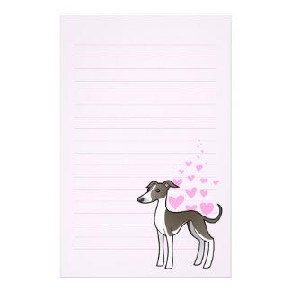 Greyhound / Whippet / Italian Greyhound Love Stationery