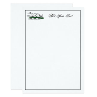 Greyhound Whippet Running Heraldic Crest Note Card