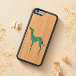 Carved ® iPhone 6 Bumper Wood Case with Whippet Phone Cases design