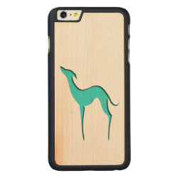 Carved iPhone 6 Plus Slim Wood Case with Greyhound Phone Cases design