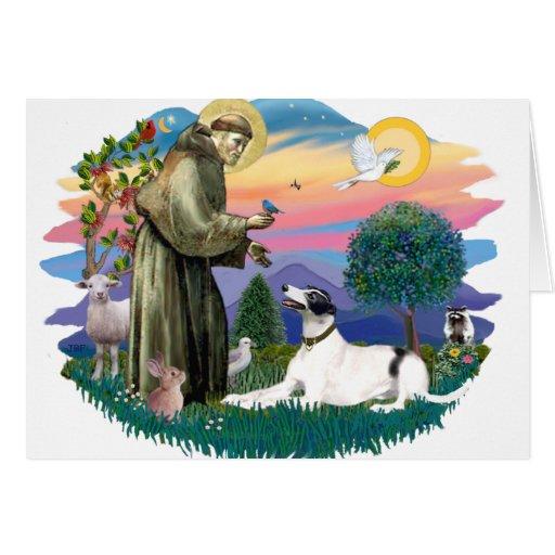 Greyhound (white-black) greeting card