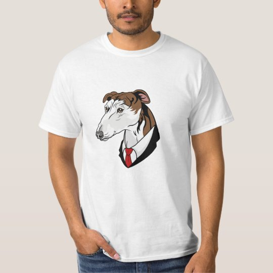 GreyHound  WHITE TEXT T-Shirt