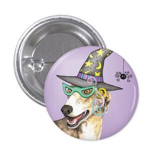 Greyhound Witch Pinback Button