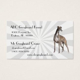 Greyhound with white Starburst Business Card