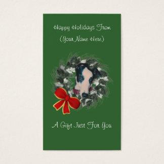 Greyhound Wreath Christmas Holiday Gift Card Tag