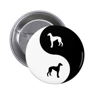 Greyhound Yin Yang Pinback Buttons