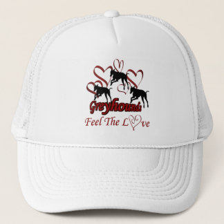 Greyhounds And Hearts Love Dog Hat