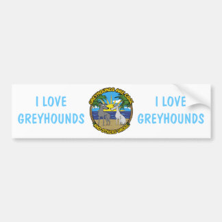 GREYHOUNDS ARE COOL AND OTHERS DROOL CAR BUMPER STICKER