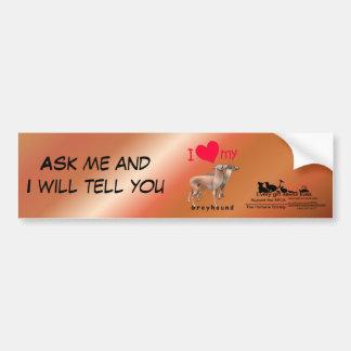 Greyhounds Car Bumper Sticker