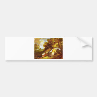 Greyhounds coursing a fox by Thomas Gainsborough Bumper Sticker