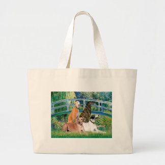 Greyhounds (four) - Bridge Jumbo Tote Bag