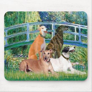 Greyhounds (four) - Bridge Mouse Pad