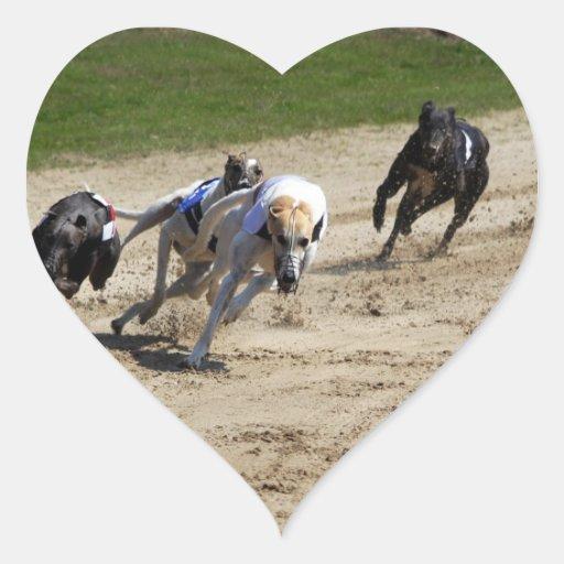 greyhounds heart sticker