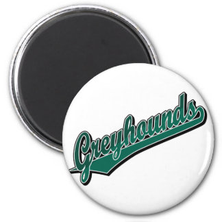Greyhounds in 2 Tone Green Magnet