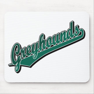 Greyhounds in 2 Tone Green Mouse Pad
