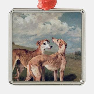Greyhounds Metal Ornament