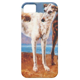 Greyhounds of Comte de Choiseul by Gustave Courbet iPhone SE/5/5s Case