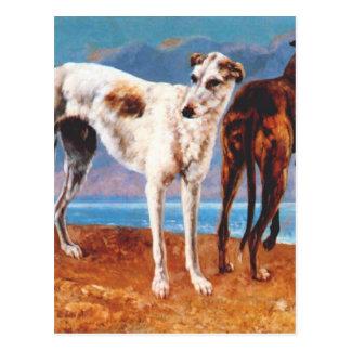 Greyhounds of Comte de Choiseul by Gustave Courbet Postcard
