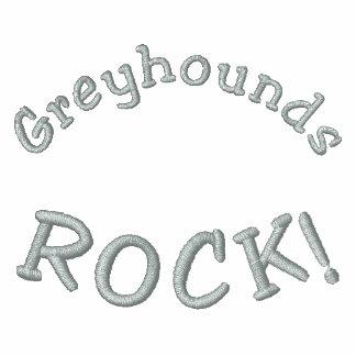 Greyhounds Rock Embroidered Ladies Zip Hoodie