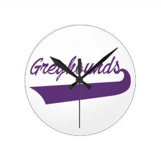 Greyhounds Round Clock