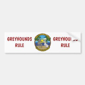 GREYHOUNDS RULE 45 Mph BEACH BUM Car Bumper Sticker