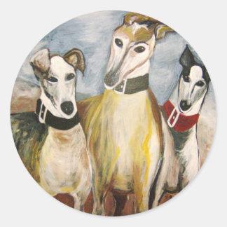 Greyhounds Classic Round Sticker