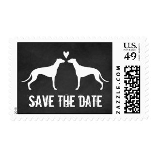 Greyhounds Wedding Save the Date Stamps