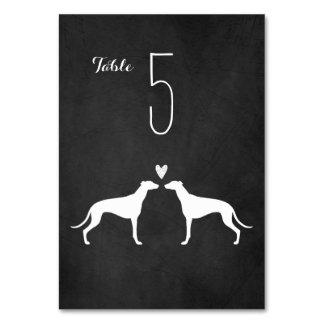 Greyhounds Wedding Table Card