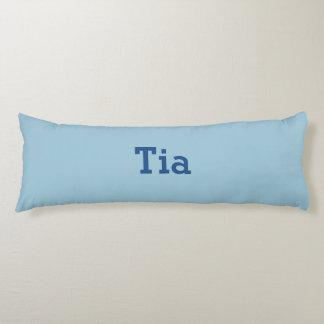 Greyish Green Blue Customizable Body Pillow