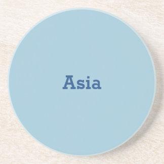 Greyish Green Blue Customizable Drink Coaster