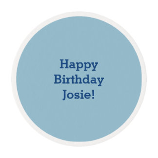 Greyish Green Blue Customizable Edible Frosting Rounds