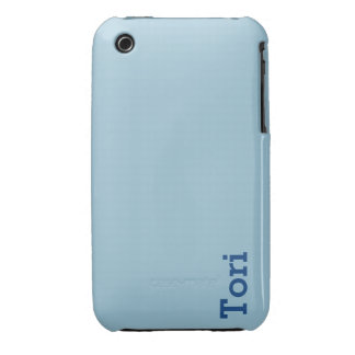Greyish Green Blue Customizable iPhone 3 Case-Mate Cases