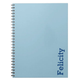 Greyish Green Blue Customizable Spiral Notebook