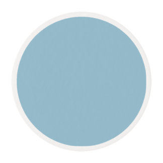 Greyish Green Blue Edible Frosting Rounds