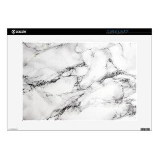 """Greyish White Marble Skins For 15"""" Laptops"""