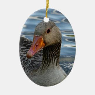 Greylag Goose, Anser anser, Graugans Ceramic Ornament