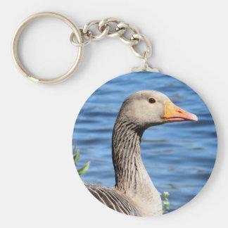 Greylag Goose Keychain