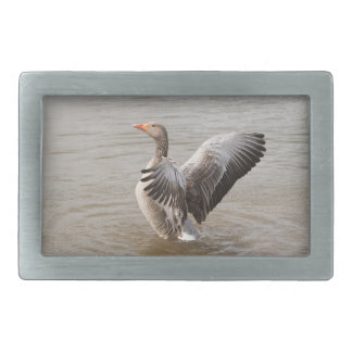 Greylag Goose Rectangular Belt Buckle