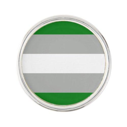 Greyromantic Pride Flag Lapel Pin
