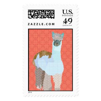 Grey's Alpaca Art Postage