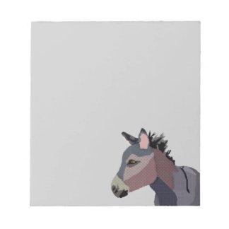 Grey's Donkey Notepad