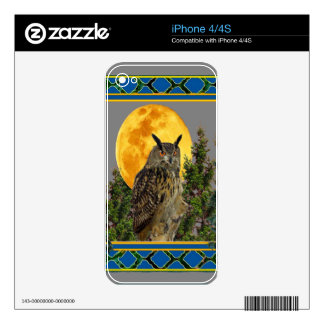 GREY'S & GREENS FULL MOON WILDERNESS OWL DECAL FOR iPhone 4S