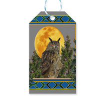 GREY'S & GREENS FULL MOON WILDERNESS OWL GIFT TAGS