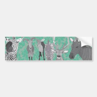 Grey's Grey Animals Bumper Sticker