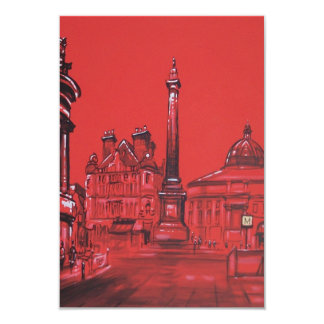 Greys Monument in Red Invitation