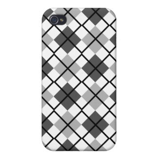 Greys, White and Black Argyle iPhone 4 Case