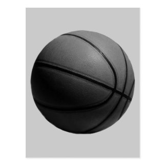 Greyscale Basketball Postcard